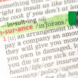 Insurance definition highlighted in green — Photo