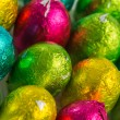 Colourful easter eggs overhead - Stock Photo