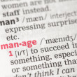 Manage definition — Stock Photo #24146259