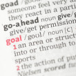 Goal definition — Stock fotografie