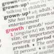Growth definition — Stock fotografie