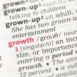 Growth definition — Stock Photo