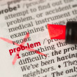 Problem definition word crossed out — Stock Photo #24146503