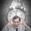 Stressed businessmwith hot deadline — Stock Photo #24146543