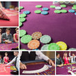 Collage of casino imagery — 图库照片