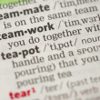 Teamwork definition — Stock Photo