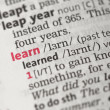 Learn definition — Stock Photo