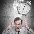 Stressed businessmwith deadline — Stock Photo #24146985