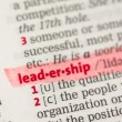 Leadership definition highlighted in red - Stock Photo