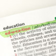 Education definition highlighted in green — Stock Photo #24147149