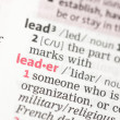 Stock Photo: Leader definition