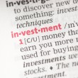 Investment definition — Foto Stock