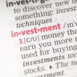 Stock Photo: Investment definition