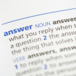 Answer definition — Stock Photo #24147489