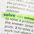 Solve definition highlighted — Stock Photo