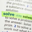 Stock Photo: Solve definition highlighted