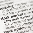 Stock Photo: Stock market definition