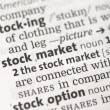 Stock market definition — Stock Photo