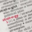 Definition of strategy — Stock Photo #24147659
