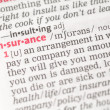 Stock Photo: Insurance definition