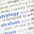 Strategy definition — Stock Photo