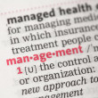 Stock Photo: Management definition