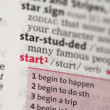 Start definition — Stock Photo #24147971