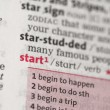 Stock Photo: Start definition