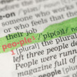 People definition highlighted in green - Stock Photo