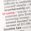 Income definition — Stock Photo