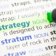 Strategy definition highlighted — Stock Photo