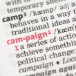 Campaign definition - Stock Photo