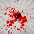 Broken glass with blood — Stock Photo