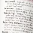 Stock Photo: Learning definition