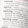Learning definition — Foto de Stock