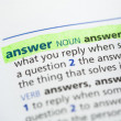 Answer definition highlighted — Stock Photo #24148223