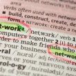 Network definition circled and highlighted — Stock Photo #24148225