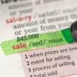 Sale definition highlighted in green — Stock Photo #24148317