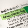 Royalty-Free Stock Photo: Brainstorming definition highlighted in green