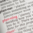 Planning definition — Stock Photo