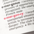 Emergency definition — Stock Photo #24148529
