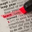 Stock Photo: Learn definition highlighted in red
