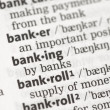 Banking definition — Stock Photo