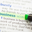 Stock Photo: Business definition highlighted