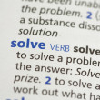 Stock Photo: Solve definition