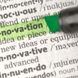 Innovation definition highlighted in green — Stock Photo #24148853