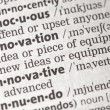 Innovation definition — Stock Photo