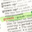 Growth definition highlighted in green — Stock Photo