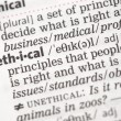 Ethical definition — Stock Photo