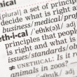 Ethical definition - Stock Photo
